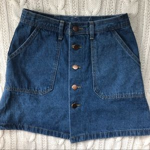 Dresses & Skirts - Button Down Jean Skirt